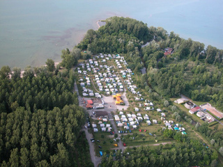Camping site of La Menthue, Yvonand