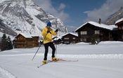Cross-country skier in Randa