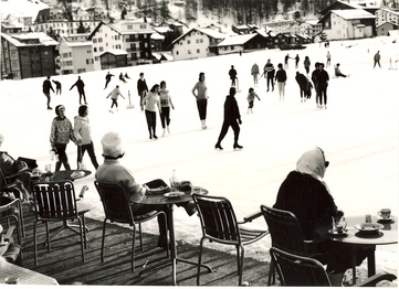 La patinoire au bon vieux temps