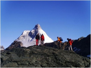 View the Matterhorn from an unknown side: Tour Monte Rosa  Matterhorn. One of the most beautiful trekking tours through the Alps!