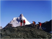 "View the Matterhorn from an unknown side: ""Tour Monte Rosa – Matterhorn"". One of the most beautiful trekking tours through the Alps!"