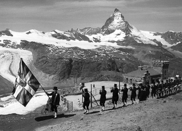 Folkloristic group on the Gornergrat
