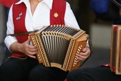 Folklore music played by a Schwyzerörgeli