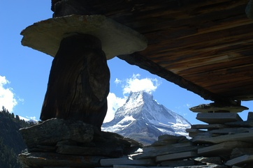 Typical Valais Stadl in Zermatt