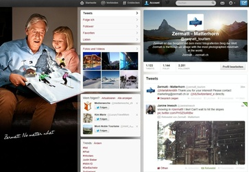Zermatt has already over 3,250 followers on Twitter.