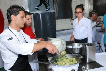 Pierludovico de Vivao, chef at Le Capri, at the 2011 Swiss Food Festival, 16 Gault Millau points and 1 Michelin star