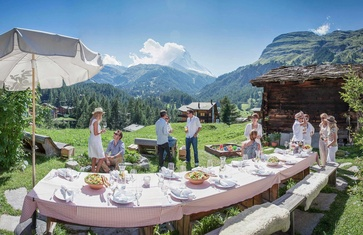 Enjoying the view: The Sonnmatten restaurant offers an unobstructed view of the Matterhorn.