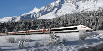 The winter enjoyment connection: TGV Lyria.