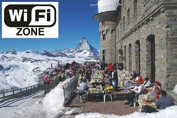 Send photos of the Gornergrat and ten further spots via social media – a great opportunity to send holiday photos to friends all over the world.
