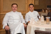 Chef Andrea Magliaccio (left) with sous chef Pierludovico de Vivo.
