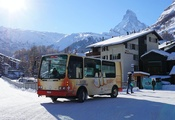 Zermatt's ski buses are very popular.