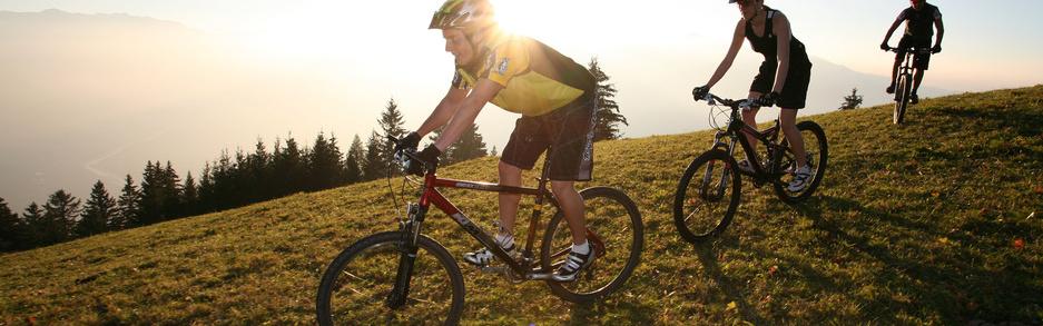 Mountainbiken at Silum