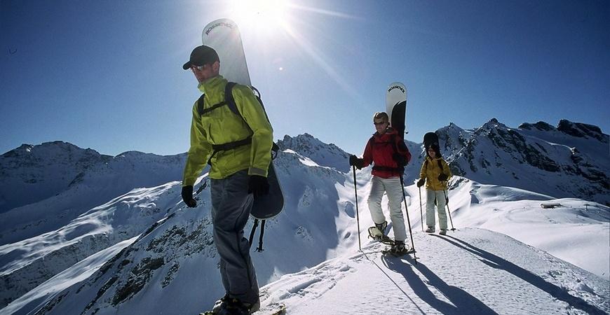Schneeschuhlaufen im Heidiland