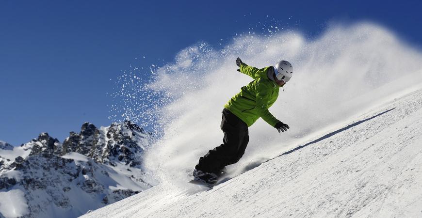 Snowboarden am Pizol