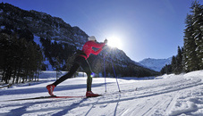 Cross-country skiing in Steg