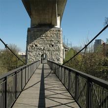 neue Eisenbahnbrücke über die Aare bei Brugg