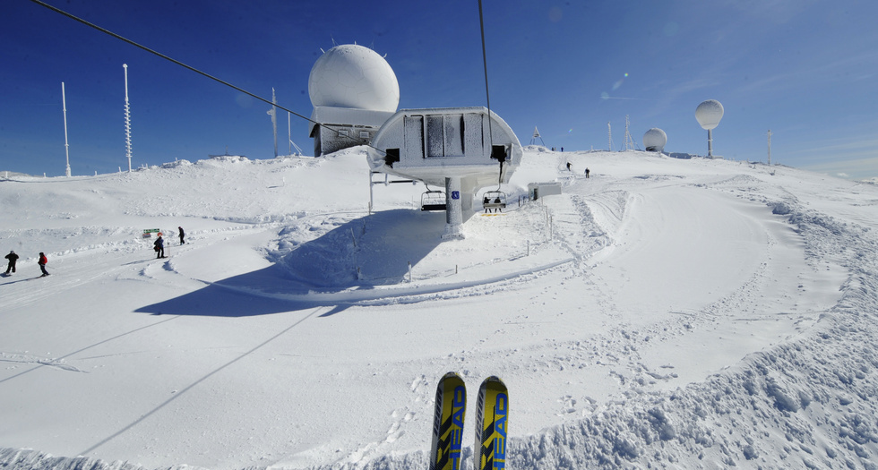 La Dôle, ski and panorama
