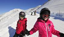 Skifahren Kinder Malbun