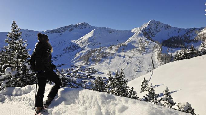 Snowshoe hiking in Malbun