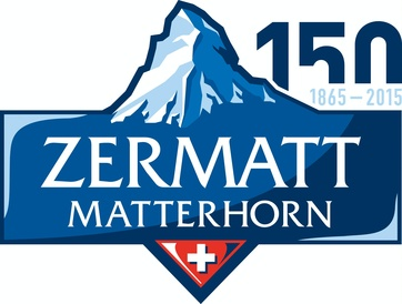 Logo for the 150th anniversary of the first ascent of the Matterhorn