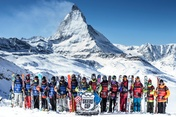 Team Europe and Team Americas at the Swatch Skiers Cup 2013