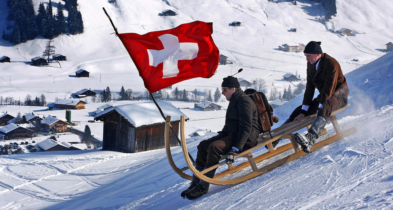 Hornschlittenrennen Adelboden