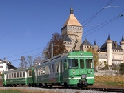 La linea ferrovia Bire - Apples- Morges (BAM), Morges