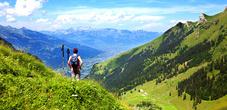 Blick auf die Alp Lawena