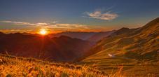 Alp Gritsch bei Sonnenuntergang