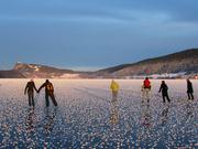 Le Lac de Joux, une patinoire naturelle, à traverser en patins